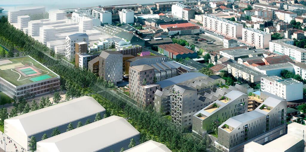 Ensemble immobilier des bassins flot lot lucien faure for Appartement bordeaux rue lucien faure